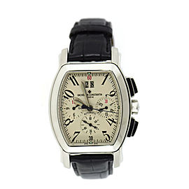 Vacheron Constantin Royal Eagle 49145 Stainless Steel & Leather Automatic 37mm Mens Watch