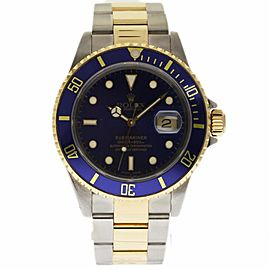 Rolex Submariner 16613 Stainless Steel & 18K Yellow Gold Automatic 40mm Mens Watch