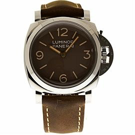 Panerai Luminor PAM00663 Stainless Steel & Leather 47mm Mens Watch