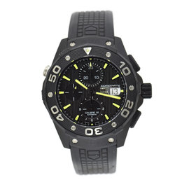 Tag Heuer Aquaracer CAJ2180 Black Titanium & Rubber Automatic 44mm Mens Watch