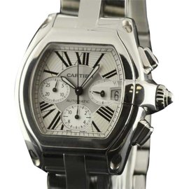 Cartier Roadster W62019X6 Stainless Steel with Silver Dial 43mm Mens Watch