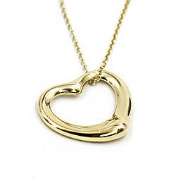 Tiffany & Co. Elsa Peretti 18K Yellow Gold Open Heart Necklace