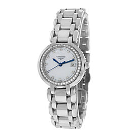 Longines Prima Luna L81100876 Stainless Steel with Mother Of Pearl Dial Quartz 26mm Womens Watch