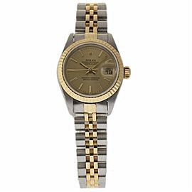 Rolex Datejust 79173 Stainless Steel and 18K Yellow Gold with Champagne Dial 26mm Womens Watch