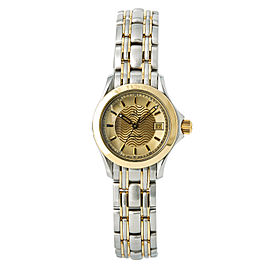 Omega Seamaster 2371.10 120 Stainless Steel and 18K Yellow Gold 26mm Quartz Womens Watch