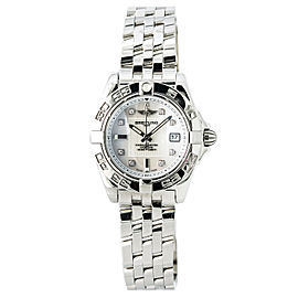 Breitling Windrider Cockpit A71356 Stainless Steel with White Mother of Pearl Dial Quartz 32mm Womens Watch