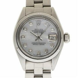 Rolex Datejust 6919 Stainless Steel with White Mother of Pearl Dial Vintage 26mm Womens Watch