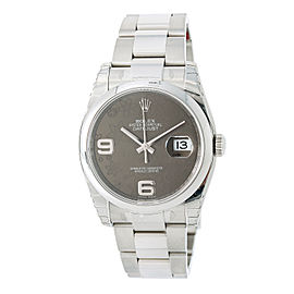 Rolex Datejust 116200 Automatic Watch Stainless Floral Dial 36mm Mens Watch