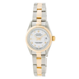 Rolex Datejust 69173 Stainless Steel and Yellow Gold Automatic White Dial 26mm Womens Watch