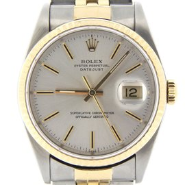 Rolex Datejust 160132 14K Yellow Gold and Stainless Steel with Silver Dial 36mm Mens Watch