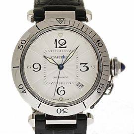 Cartier Pasha W3103155 Stainless Steel & Leather 38mm Unisex Watch