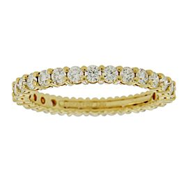 Tiffany & Co. 18K Yellow Gold Diamond Eternity Ring Size 5.25
