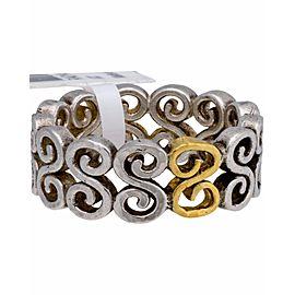 Gurhan 24K Yellow Gold Sterling Silver Vortex Ring Size 6.5