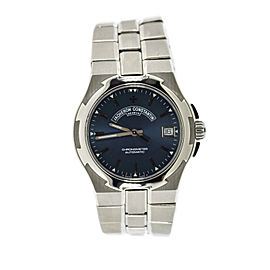 Vacheron Constantin Overseas 42042 Stainless Steel with Blue Dial Automatic 37mm Mens Watch