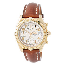 Breitling Chronomat Vitesse K13050.1 18K Yellow Gold & Leather Cream Dial Automatic 40mm Mens Watch