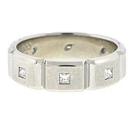 Jeff Cooper Platinum with Diamond Wedding Band Ring Size 10