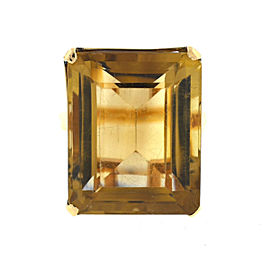 14k Yellow Gold Smoky Quartz Large Ladies Ring