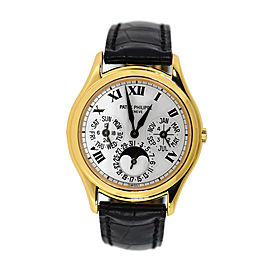 Patek Philippe 3940J-022 18K Yellow Gold & Leather Automatic 36mm Mens Watch
