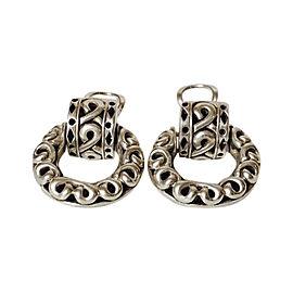 John Hardy Sterling Silver Door Knocker Clip Earrings