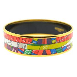 Hermes Gold Tone Hardware Bangle Bracelet