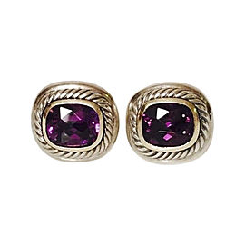 David Yurman Sterling Silver and 14K Yellow Gold with Amethyst Albion Earrings