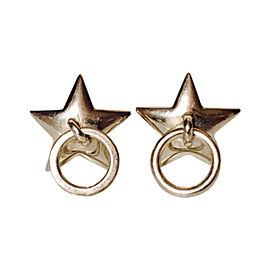 Tiffany & Co. Sterling Silver Star Door Knocker Earrings