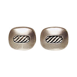 David Yurman Sterling Silver Inset Cable Cufflinks
