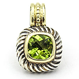 David Yurman Cable Classics 925 Sterling Silver and 14K Yellow Gold with Peridot Pendant