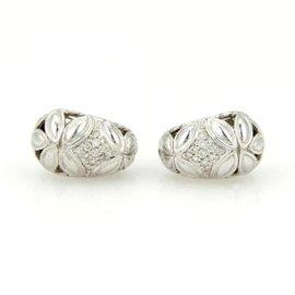 John Hardy Kawun Buddha Belly Sterling Silver Diamond Earrings
