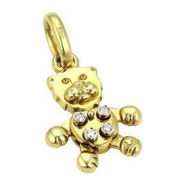 Pomellato Diamond Animated Lion 18K Yellow Gold Charm Pendant