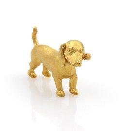 Buccellati 18K Yellow Gold Dachshund Dog Pin Brooch