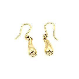 Tiffany & Co. Elsa Peretti 18K Yellow Gold Tear Drop Hook Dangle Earrings