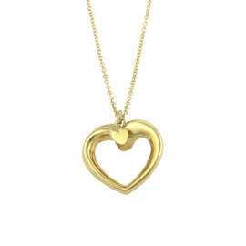 Tiffany & Co. Paloma Picasso 18K Yellow Gold Heart Pendant Necklace