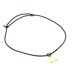 Pasquale Bruni Le Monde 18K Yellow Gold with 0.01ct Diamond Fish Pendant Cord Necklace