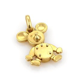 Pomellato 18K Yellow Gold Animated Baby Mickey Charm Pendant