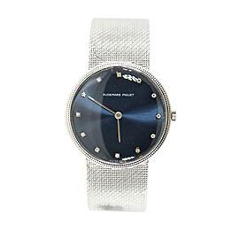 Audemars Piguet Diamond Blue Dial 18K White Gold Watch