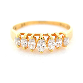 14k Yellow Gold Marquise Diamond Ladies Ring