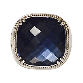 Tacori Sterling Silver and 18K Yellow Gold with 13.6ct. Blue Quartz Ring Size 6.5
