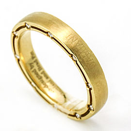 Damiani Brad Pitt Diamond Wedding Band in 18k Yellow Gold, Size 8