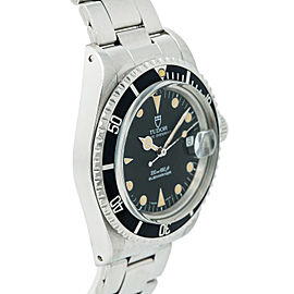 Tudor Submariner Vintage 79090 Patina Mens Automatic Watch Box & Papers 40mm