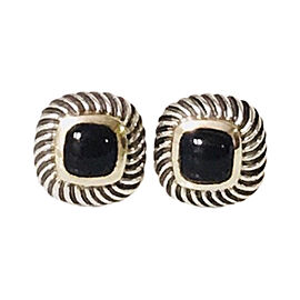David Yurman Sterling Silver and 14K Yellow Gold with Black Onyx Petite Albion Earrings