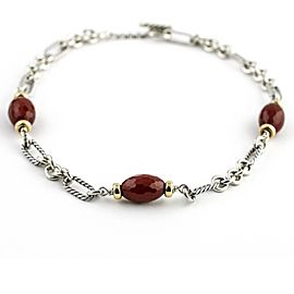 David Yurman Sterling Silver Carnelian Womens Necklace