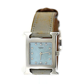 Hermes H Diamond Stainless Steel Watch HH1.210