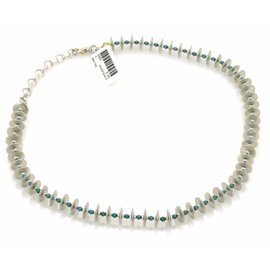 Gurhan 925 Sterling Silver and 24K Gold with Turquoise Necklace