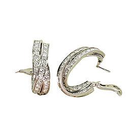 Fabulous CARTIER Trinity Diamond Inside Out 18k White Gold Large Earrings