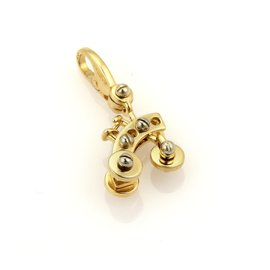 Cartier 18K White and Yellow Gold Tricycle Charm Pendant