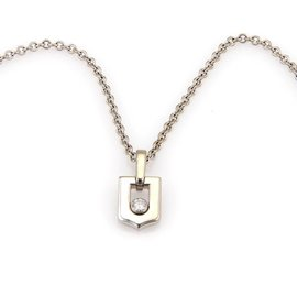 Cartier 18K White Gold with 0.20ct Diamond Pendant