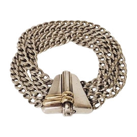 Gucci 18K Yellow Gold and Sterling Silver Bracelet