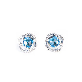 David Yurman Infinity 925 Sterling Silver with Topaz Earrings