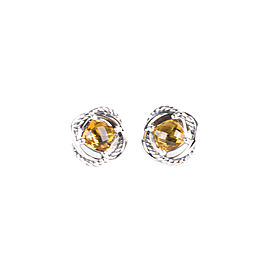 David Yurman Infinity 925 Sterling Silver with Citrine Earrings